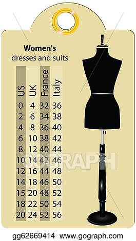 Stock Illustration Sizes Women Dresses And Suits Clipart