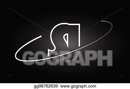 Vector Art Sj S J Letter Alphabet Logo Black White Icon Design