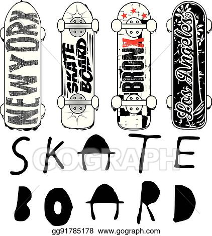 b06cee55e3 Clip Art Vector - Skate board typography  t-shirt graphics  vectors ...