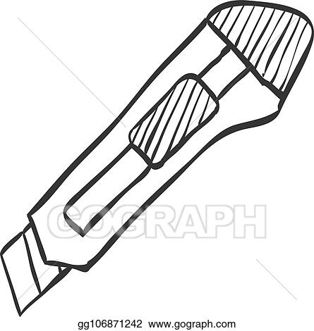 vector stock sketch icon cutter knife clipart illustration Generators Standby Icon sketch icon cutter knife
