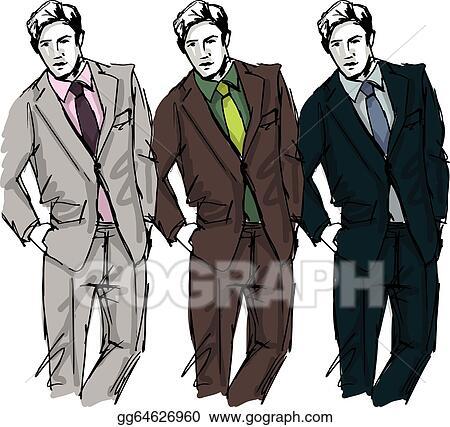 462cbb02 Vector Stock - Sketch of fashion handsome man. vector illustration ...