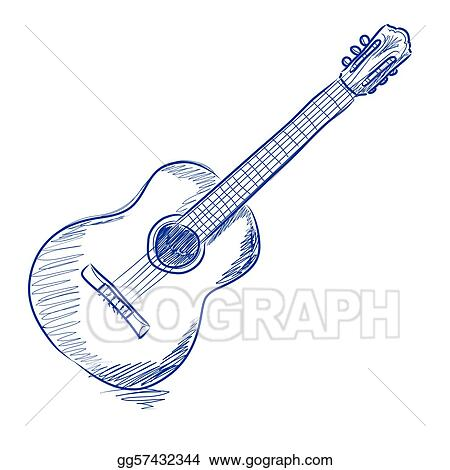acoustic guitar clip art royalty free gograph rh gograph com guitar clip art black and white guitar clip art black and white