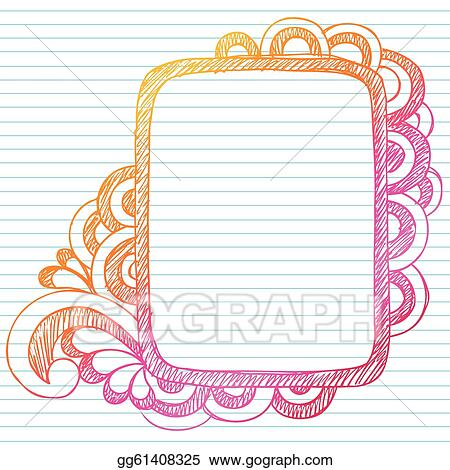 Vector Art Sketchy Doodle Picture Frame Vector Clipart Drawing