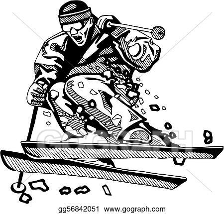 Vector Clipart Skiing Snowboarding Vector Illustration Gg56842051 Gograph