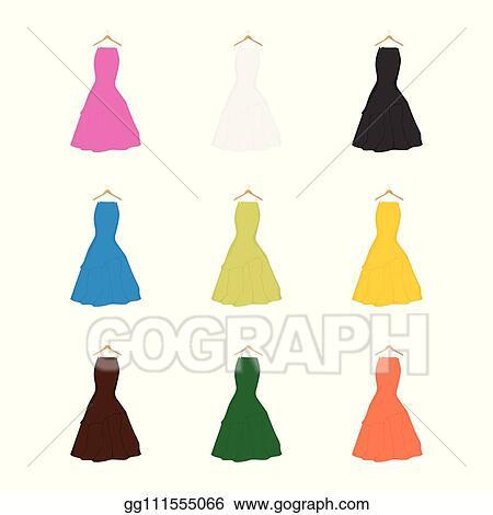 663b7bcae43682 Clip Art Vector - Skirt template, design fashion woman illustration ...
