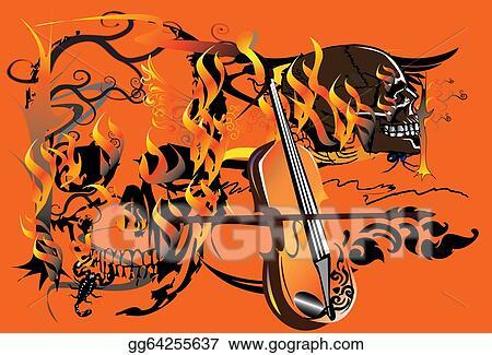 6724a945445ab Stock Illustration - Skull-and-fire. Stock Art Illustrations ...