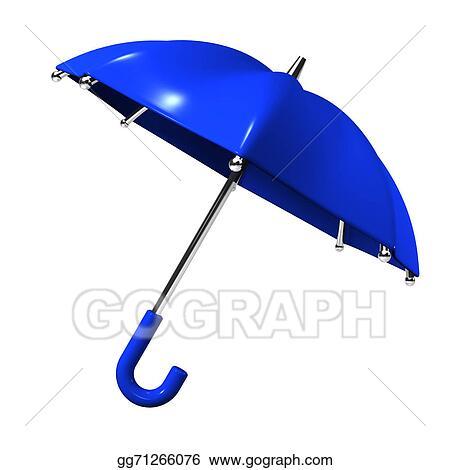 a7016ca2e5769 Stock Illustration - Slanting blue umbrella. Clipart Drawing ...
