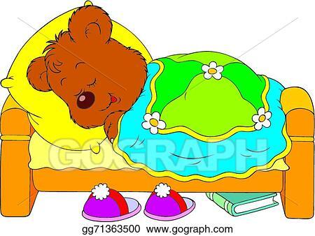 Bear sleeping. Vector stock clipart illustration