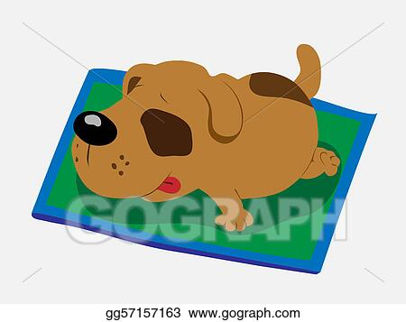 vector art sleeping dog clipart drawing gg57157163 gograph rh gograph com dog sleeping in bed clipart