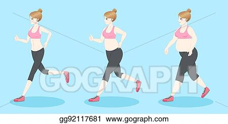 EPS Vector - From fat to slim. idea of weight loss. Stock Clipart  Illustration gg111201990 - GoGraph