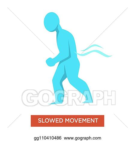 Vector Clipart Slowed Movements Disease Symptom Man Blue Figure Vector Illustration Gg110410486 Gograph