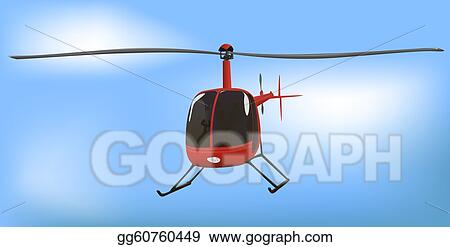 Drawing - Small news or traffic helicopter  Clipart Drawing