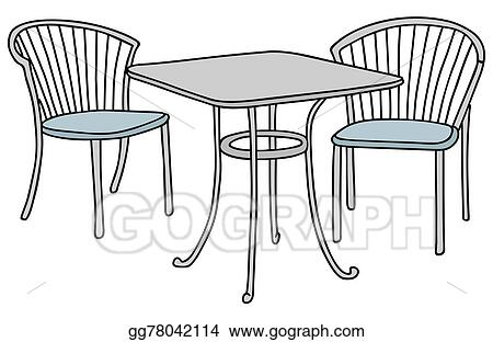 Brilliant Vector Art Small Table And Chairs Clipart Drawing Interior Design Ideas Helimdqseriescom