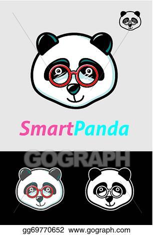 Vector Stock Smart Panda Symbol Stock Clip Art Gg69770652 Gograph