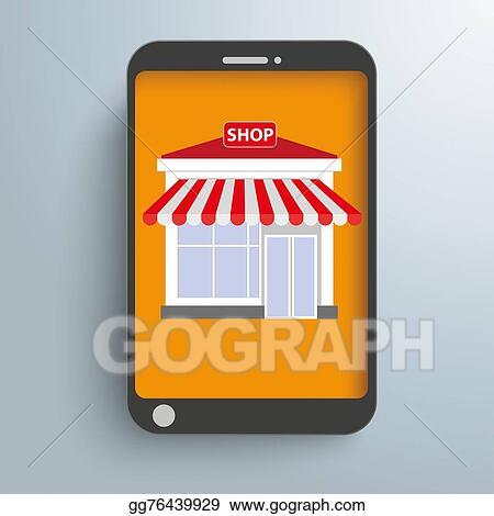 4b186585e4b Clip Art - Smartphone online shop. Stock Illustration gg76439929 ...