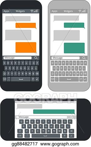 Vector Illustration - Smartphone with blank text message