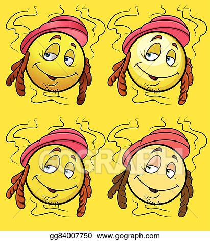 Vector Art Smelly Smiley Character Vector Set Clipart Drawing