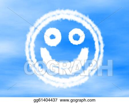 Stock Illustration Smiley Made Of Cloud Clipart Gg61404437 Gograph