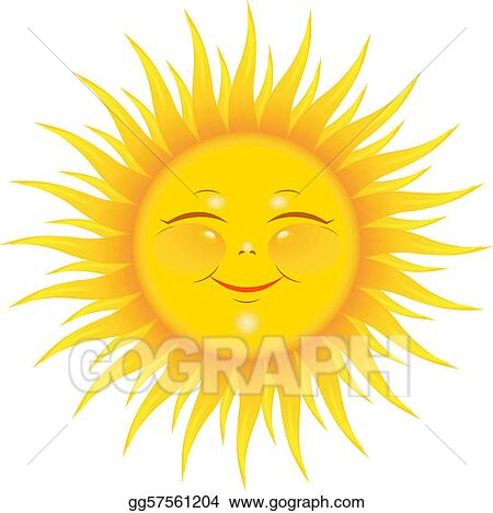 smiling sun clip art royalty free gograph rh gograph com smiling sun clipart black and white smiling sun with sunglasses clipart