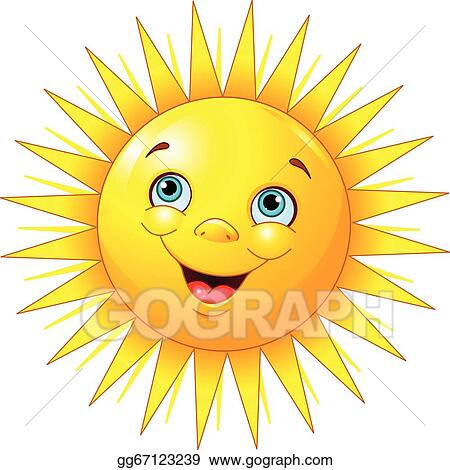 vector art smiling sun clipart drawing gg67123239 gograph rh gograph com Smiling Sun with Colored Background smiling sun clipart images