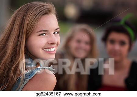 Outdoor trio teen