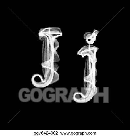 Vector Stock Smoke Font Letter J Clipart Illustration Gg76424002