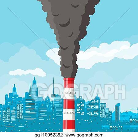 Smoke clear. Eps vector smoking factory