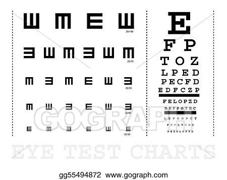 Stock Illustration Snellen Eye Test Charts Clipart Drawing