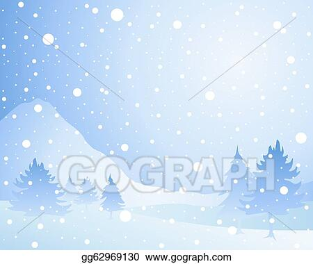 vector art snow background eps clipart gg62969130 gograph rh gograph com snowy background clipart black and white Snow Falling Clip Art