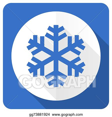 air conditioning clipart. clip art - snow blue flat icon air conditioning sign. stock illustration gg73881924 clipart