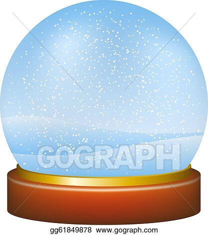 Snow globe with winter landscape
