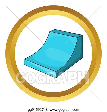 drawing snow half pipe for freestyle icon clipart drawing rh gograph com