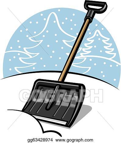 vector stock snow shovel clipart illustration gg63428974 gograph rh gograph com Snow Clip Art snow shovel clipart free
