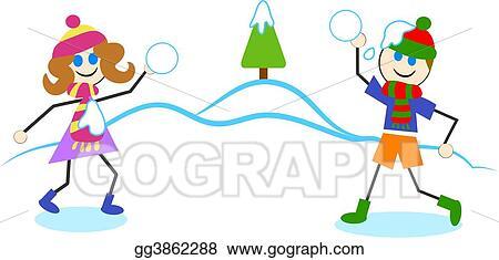 clip art snowball fight stock illustration gg3862288 gograph rh gograph com animated snowball fight clipart elf snowball fight clipart