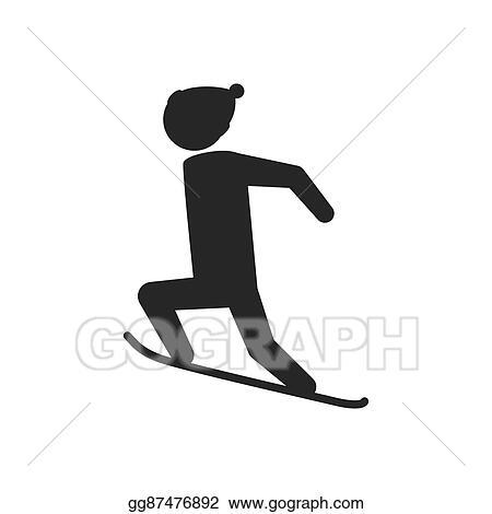 1f33ad259ec Vector Stock - Snowboard man hat winter sport snow icon. vector ...