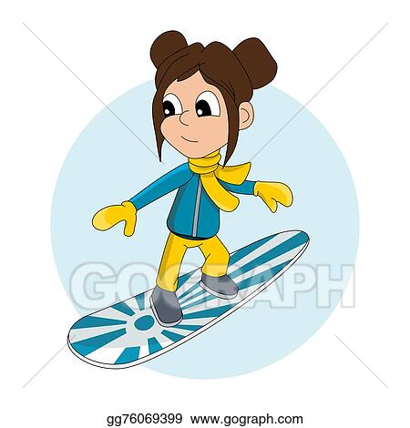 drawing snowboarder kid cartoon clipart drawing gg76069399 gograph rh gograph com  winter sports clipart free