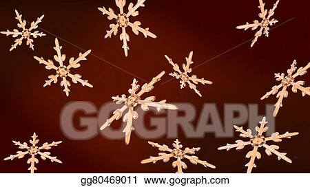 Snowflakes Christmas Background Rose Gold