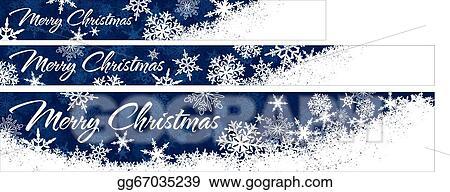 Vector Art Snowflakes Christmas Web Banners Eps Clipart