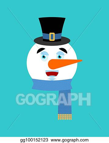 merry emoji face new year and christmas vector illustration