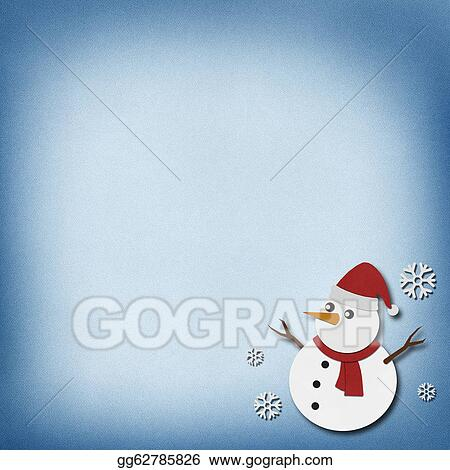 Stock Illustration Snowman Recycled Paper Craft On Paper