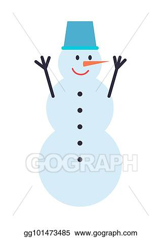 Eps Illustration Snowman Winter Character Vector Illustration