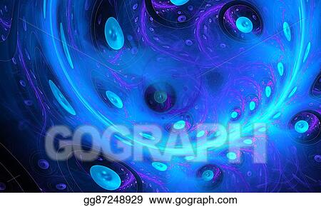 Stock Illustration - Soap bubble  alien planet from space