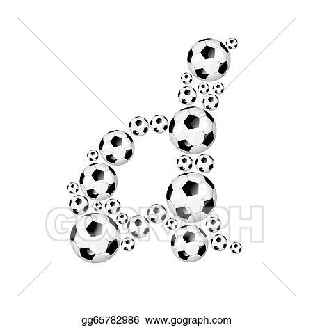 Stock Illustration Soccer Alphabet Lowercase Letter D Clipart