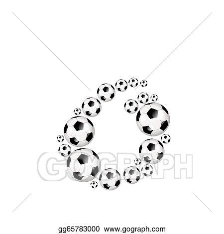 Stock Illustration Soccer Alphabet Lowercase Letter O Clipart