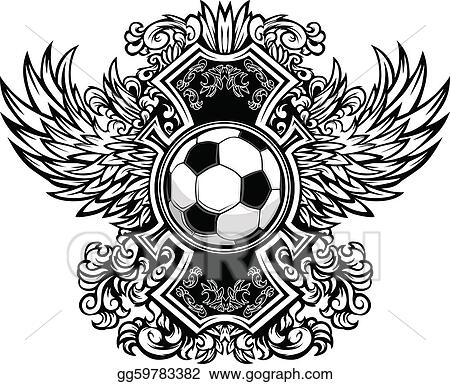 vector art soccer ball ornate graphic vector t clipart drawing