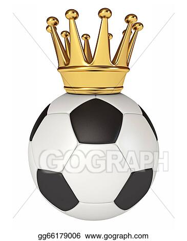 88f682650 Stock Illustration - Soccer ball with a golden crown. Clip Art ...