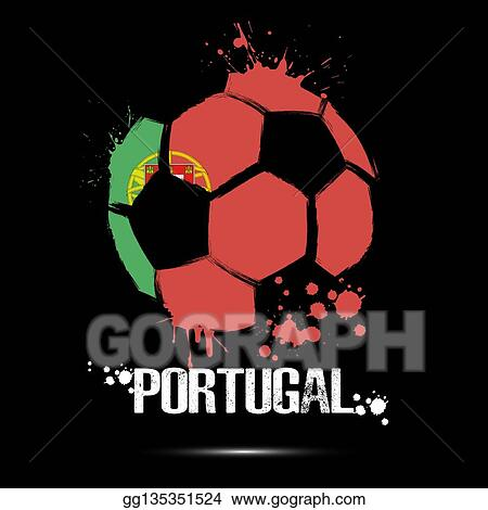 Vector Illustration Soccer Ball With Portugal Flag Colors Eps Clipart Gg135351524 Gograph