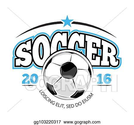vector stock soccer club vector logo template stock clip art