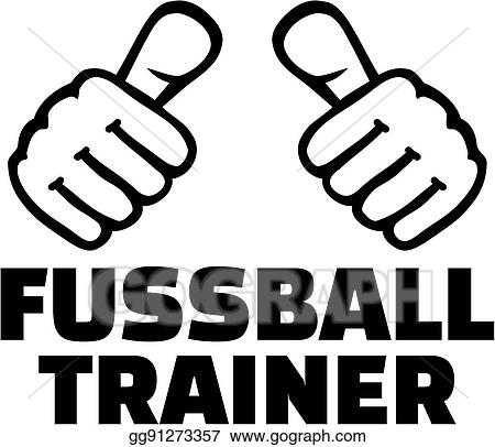 Vector Illustration Soccer Coach With Thumbs German T