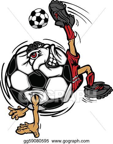 Vector Art Soccer Football Ball Player Cartoon Clipart Drawing